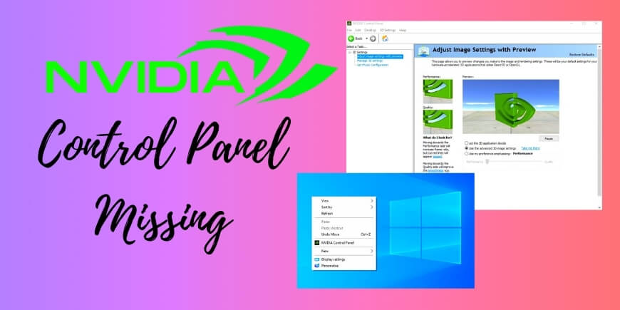 Nvidia Control Panel Missing Simple Fix GeForce Drivers